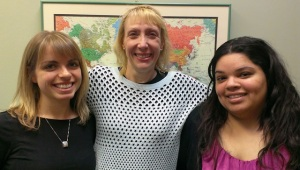 Aimee Heitz (left), Nikki Ledgerwood (center) and Noemi Gallegos (right).